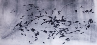 Signapura, dancer liudmila konovalova, Natural Pigment on Paper 250cmx114cm 2013