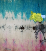 %22dear diary…:pot-pourri:bridget%22; 2013; oil:hand-dyed canvas; 200x220 cm-klein