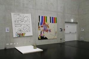 daniel ferstl; installation view; mixed media; palais kabelwerk, wien